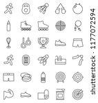 thin line vector icon set  ... | Shutterstock .eps vector #1177072594