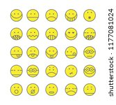 set of emoticon with simple... | Shutterstock .eps vector #1177081024