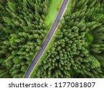 arial veiw of empty road in...   Shutterstock . vector #1177081807