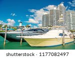 view of luxurious boats and... | Shutterstock . vector #1177082497