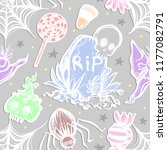 vector illustration  halloween...   Shutterstock .eps vector #1177082791