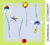 seamless wallpaper with... | Shutterstock . vector #1177084297