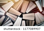 old and used hardback books | Shutterstock . vector #1177089907