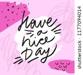 have a nice day yellow...   Shutterstock .eps vector #1177094014