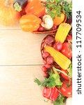 colorful vegetable frame | Shutterstock . vector #117709534