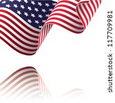 american flag vector... | Shutterstock .eps vector #117709981