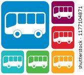 bus icon vector filled flat sign | Shutterstock .eps vector #1177104871