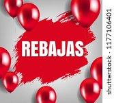 rebajas sale poster with...   Shutterstock .eps vector #1177106401