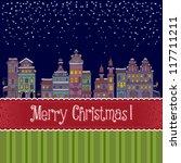 christmas new year illustration ... | Shutterstock .eps vector #117711211