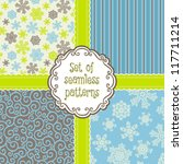 set of vector background with... | Shutterstock .eps vector #117711214