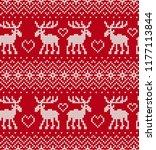 christmas knit geometric... | Shutterstock .eps vector #1177113844