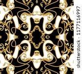 seamless pattern  with golden... | Shutterstock .eps vector #1177116997