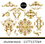 golden baroque elements... | Shutterstock .eps vector #1177117264