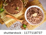 buckwheat porridge and groats... | Shutterstock . vector #1177118737