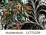 abstract zebra skin texture... | Shutterstock . vector #11771239