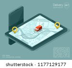 city map navigation route ... | Shutterstock .eps vector #1177129177