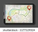 city map route navigation... | Shutterstock .eps vector #1177129324