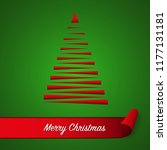 red abstract christmas tree on...   Shutterstock .eps vector #1177131181