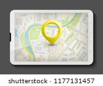 city map route navigation... | Shutterstock .eps vector #1177131457