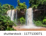 waterfall dos hermanas  two... | Shutterstock . vector #1177133071