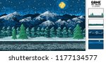 landscape background  pixel art ... | Shutterstock .eps vector #1177134577