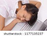 closeup.young business woman...   Shutterstock . vector #1177135237