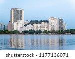 skyline of botafogo...   Shutterstock . vector #1177136071