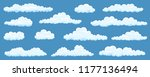 big set of vector cartoon...   Shutterstock .eps vector #1177136494