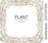 vegetable background frame with ... | Shutterstock .eps vector #1177137154