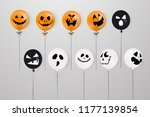 happy halloween. flying mega... | Shutterstock .eps vector #1177139854
