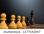 chess photographed on a...   Shutterstock . vector #1177142047