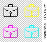 briefcase  office bag. colored...
