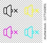 volume mute icon. colored set...