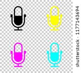 simple microphone icon. colored ...