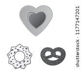 vector illustration of biscuit... | Shutterstock .eps vector #1177147201
