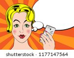 poster with cartoon character.... | Shutterstock .eps vector #1177147564