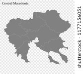 high quality map of central... | Shutterstock .eps vector #1177156051