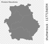 high quality map of western... | Shutterstock .eps vector #1177156054