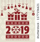 merry christmas and happy new...   Shutterstock .eps vector #1177156621