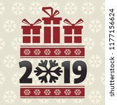merry christmas and happy new...   Shutterstock .eps vector #1177156624