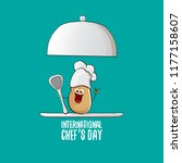 international chef day greeting ... | Shutterstock .eps vector #1177158607