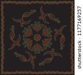 vector abstract bandana peacock ...   Shutterstock .eps vector #1177169257