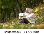 beautiful happy old people... | Shutterstock . vector #117717085