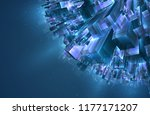 vector abstract 3d crystal. a... | Shutterstock .eps vector #1177171207