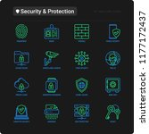 security and protection thin... | Shutterstock .eps vector #1177172437