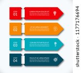 business infographic arrow... | Shutterstock .eps vector #1177176694