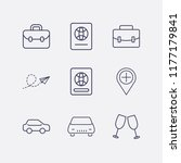 outline 9 vacation icon set.... | Shutterstock .eps vector #1177179841