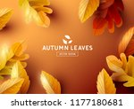 autumn season background with... | Shutterstock .eps vector #1177180681