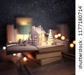 christmas story pop up book...   Shutterstock . vector #1177180714
