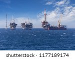 Big Offshore Oil Rig Drilling...